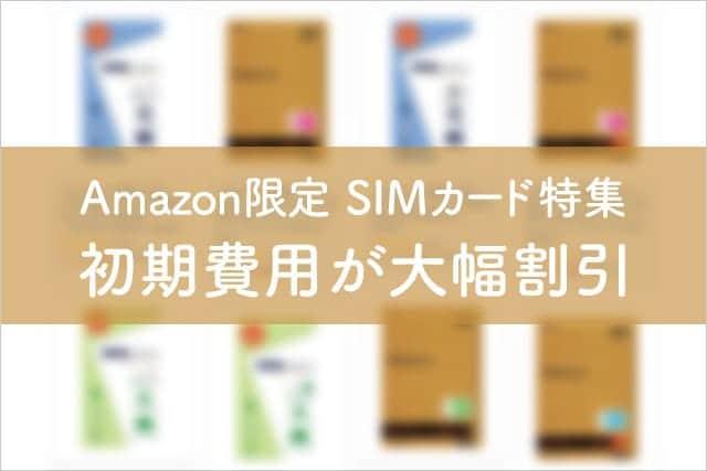 Amazon限定SIMカード特集 初期費用が大幅割引