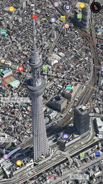 東京スカイツリー 3Dビュー Flyover