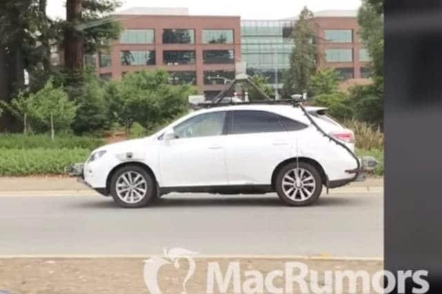 Appleの自動運転車が目撃される?