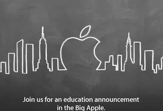 アップルが2012年1月19日に教育に関するイベントを開催