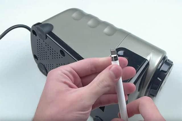 Appleペンシルの金属部分は削れず