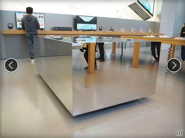 日本初、アップルストア表参道にタッチで楽しむ「iPhone 3D Touch Table」登場