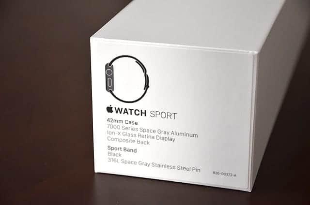 横にはApple Watch Sportの表記