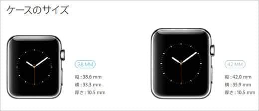 Apple Watch ケースのサイズ