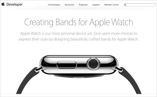 Apple Watch用バンド製作ガイドラインが公開