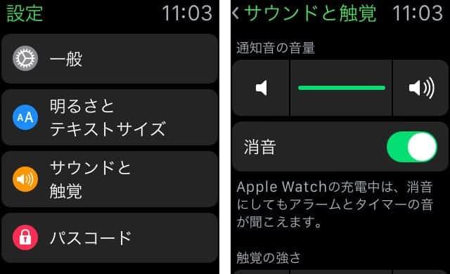 設定アプリで消音にする方法