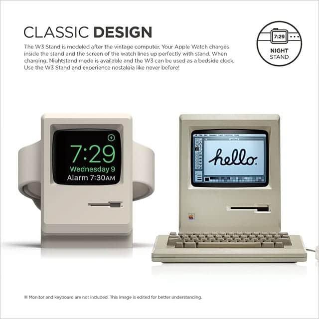 初代Macintosh型のApple Watchスタンド