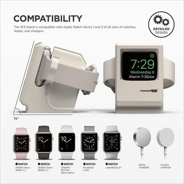 elago W3 STAND Apple Watch 専用充電スタンド 対応機種