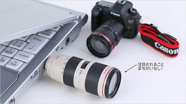 精巧すぎるCanonのミニチュアが可愛すぎる。レンズ型USBメモリ2本とカメラ本体、限定1,000個を販売。