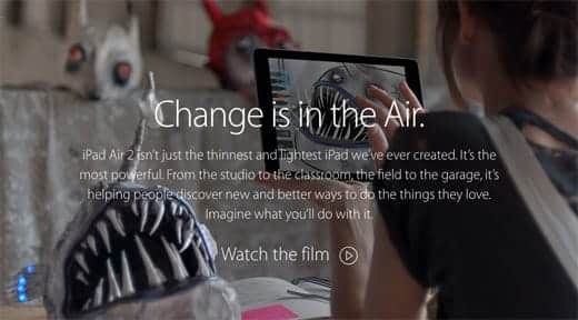 Change is in the Air. Apple WebSite.