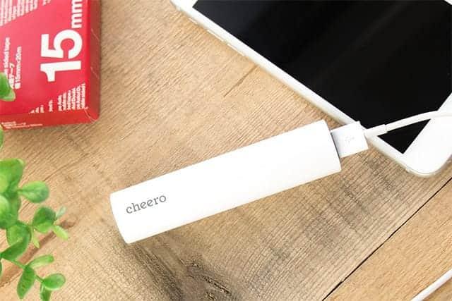 1000台限定300円OFF!iPhoneを1回フル充電できるcheero Power Plus 3 stick 3350mAh 発売開始