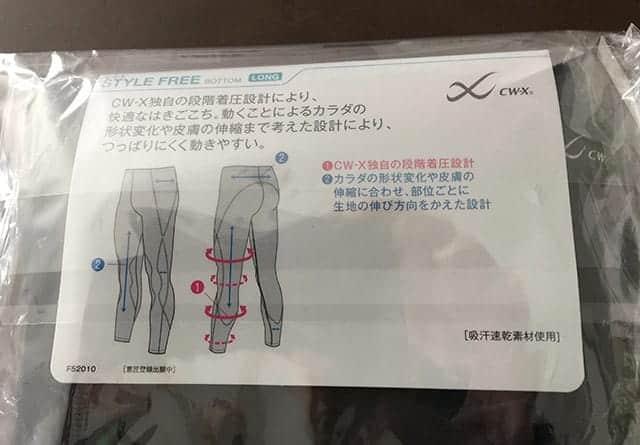 CW-X スポーツタイツ スタイルフリーボトム 機能説明