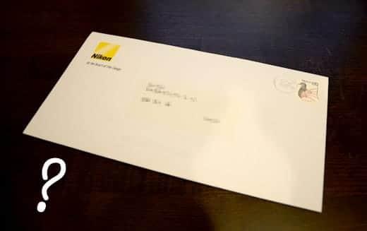 ニコンD7000キャッシュバック封筒