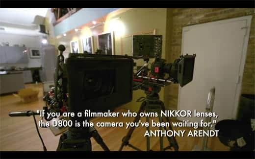 ニコンD800で撮影されたショートフィルム