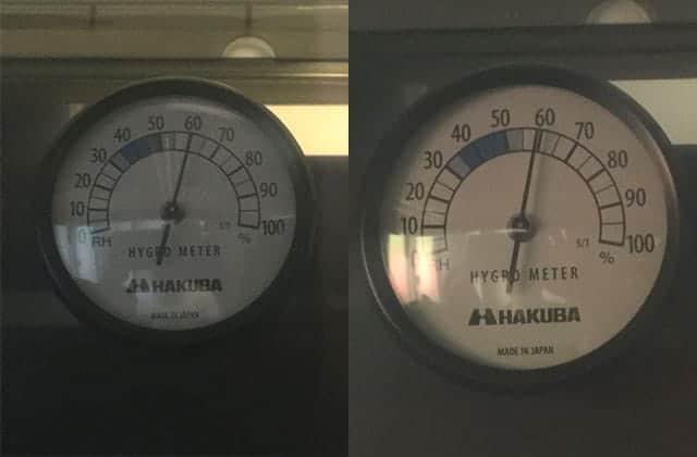ドライボックス内の湿度の変化