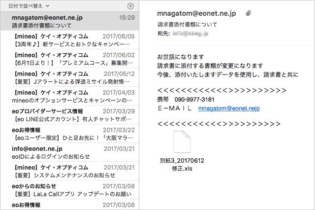 mnagatom@eonet.ne.jpから届いたメール
