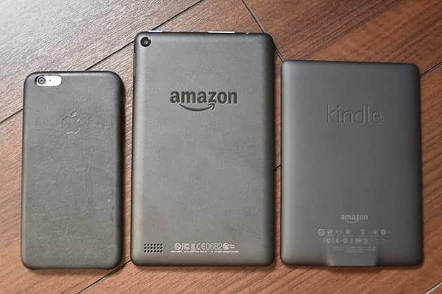 iPhone 6s FIreタブレット 8GB Kindle Paperwhite 裏面
