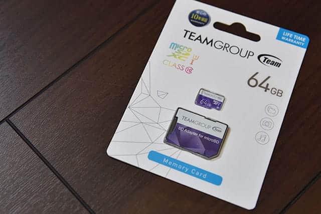 Team 64GB Micro SDXCカード
