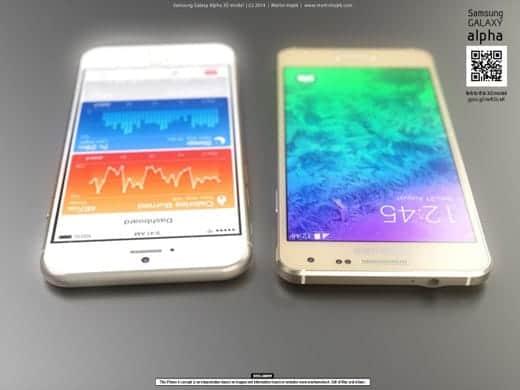 Galaxy Alpha vs iPhone6