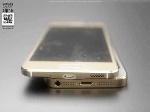 Galaxy Alpha vs iPhone6 スピーカー部分