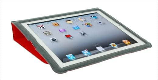 Golla Slim Folder Jerome for The New iPad Red 開けたところ