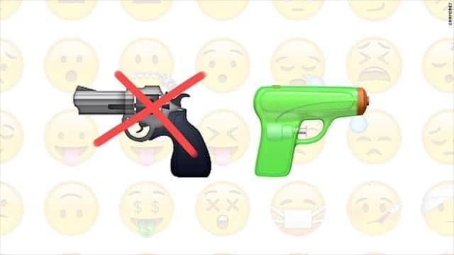 iOS10でピストルの絵文字を水鉄砲に変更へ