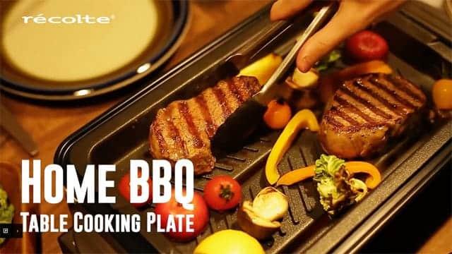 バーベキュープレートでお肉も野菜もジューシーに焼ける