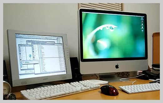 iMac24インチの写真