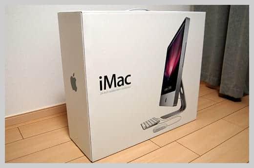 iMac24インチの箱の写真