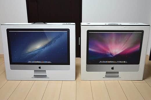 極薄iMac27インチ 24インチの箱と比較2