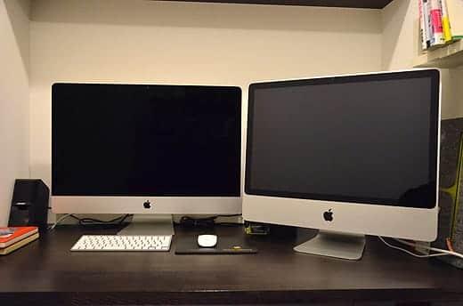 極薄iMac27インチ 24インチと並べてみた