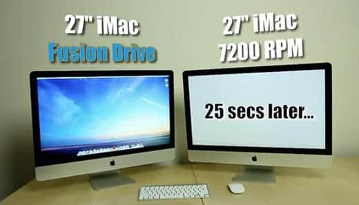 iMac27インチのFusion Drive爆速!HDDモデルとの比較動画