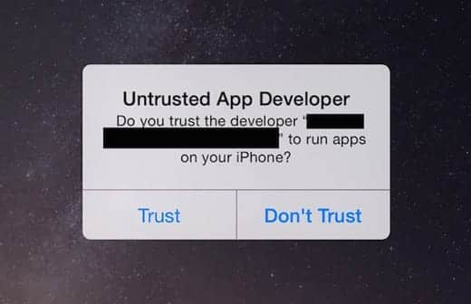 iOS 8 脆弱性 Masque Attack