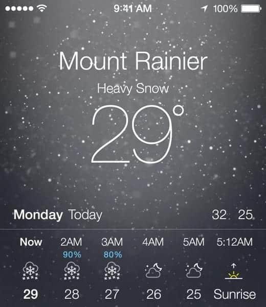 iOS 7 お天気アプリ