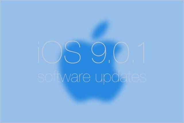 iOS 9.0.1 ソフトウェアアップデート