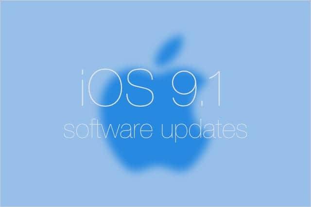 iOS 9.1 ソフトウェアアップデート