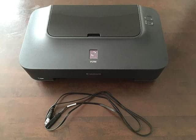 iP2700の付属品 電源コード