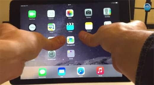 iPad Air 2 折り曲げテスト