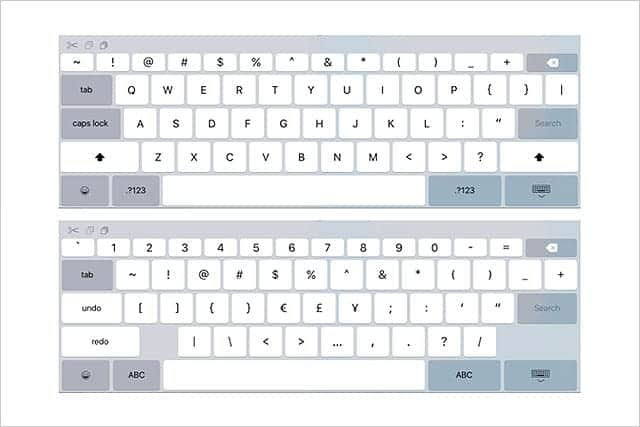 噂はどうやら本当らしい iOS 9にiPad Pro用の大型画面向けキーボードデザインが発見される