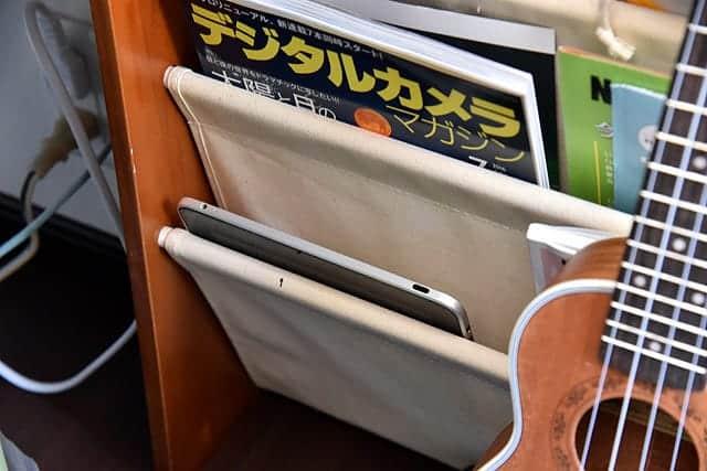 マガジンラックに保管した初代iPad
