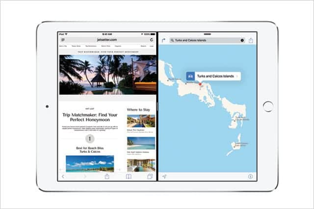 iPad Air 2 iOS 9 マルチタスク