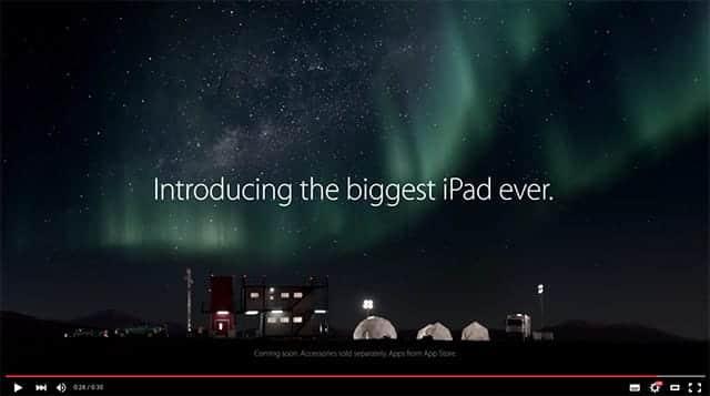 iPad Pro 新CM Introducing the biggest iPad ever.