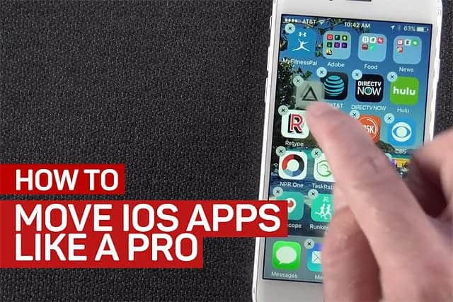 iPhoneのアイコンを別ページに簡単に移動する方法