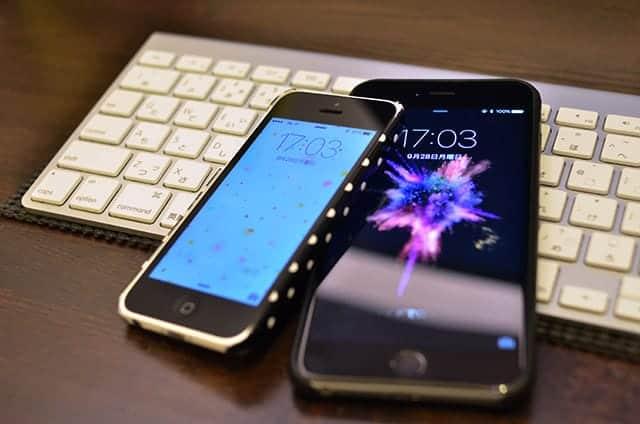 僕のiPhone 6 Plusと妻のiPhone 5c