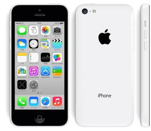 iPhone 5c ホワイト
