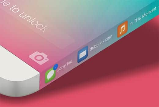 iPhone 6 サイドも液晶