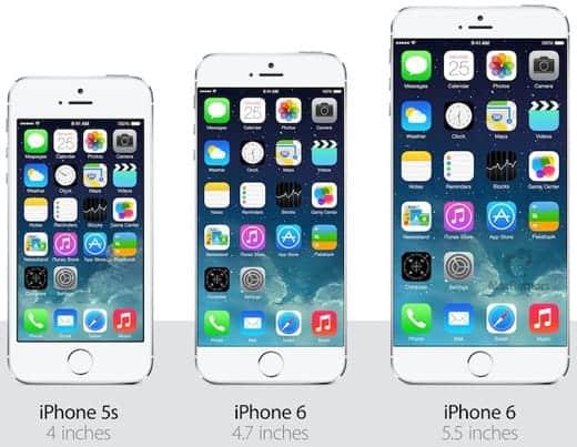 iPhone 6は横の余白がなくなる