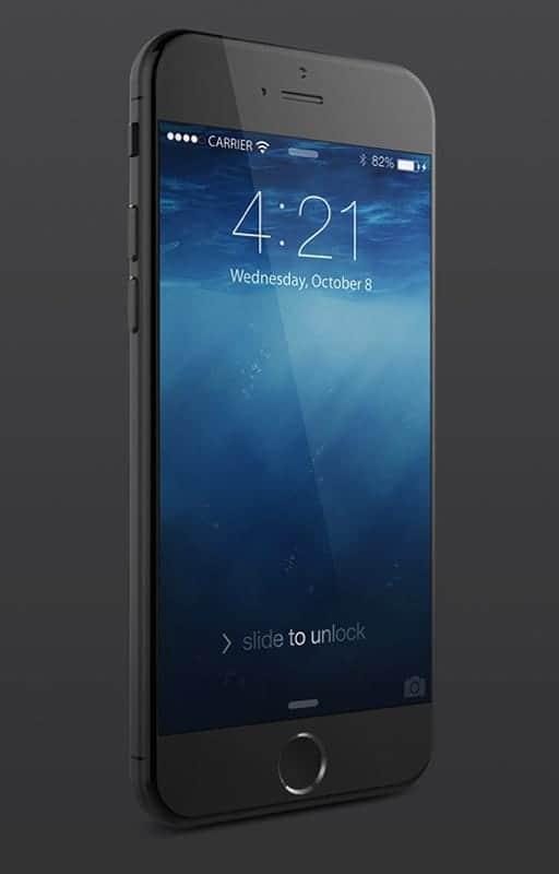 iPhone 6 美しいレンダリング画像 スペースグレイ