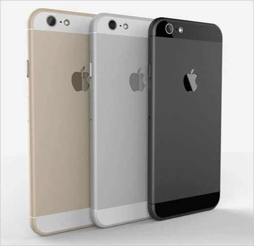 iPhone 6 美しいレンダリング画像 3色のモデル背面