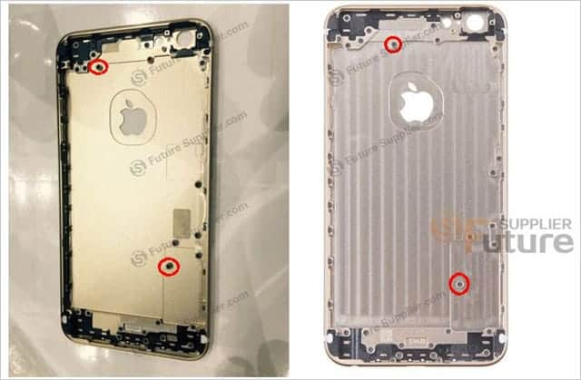 iPhone 6s plus ネジの穴の位置が違う